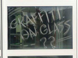 Graffiti glass