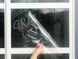 Graffiti glass film